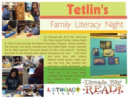 Literacy Night at Tetlin School